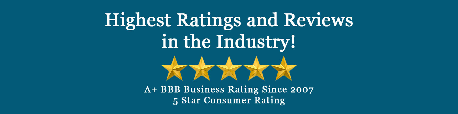 Highest Ratings and Reviews